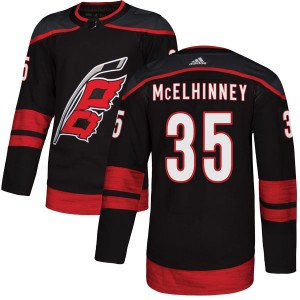Curtis McElhinney Carolina Hurricanes Men's Adidas Authentic Black Alternate Jersey