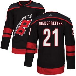 Nino Niederreiter Carolina Hurricanes Men's Adidas Authentic Black Alternate Jersey
