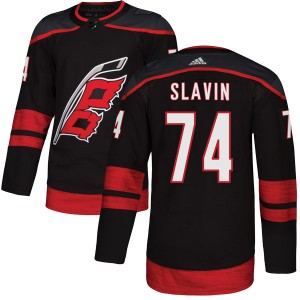 Jaccob Slavin Carolina Hurricanes Men's Adidas Authentic Black Alternate Jersey