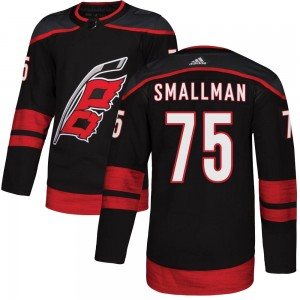 Spencer Smallman Carolina Hurricanes Men's Adidas Authentic Black Alternate Jersey