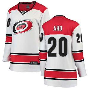Sebastian Aho Carolina Hurricanes Women's Fanatics Branded White Breakaway Away Jersey