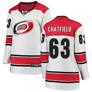 Jalen Chatfield Carolina Hurricanes Women's Fanatics Branded White Breakaway Away Jersey