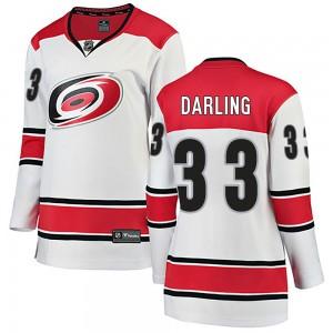 Scott Darling Carolina Hurricanes Women's Fanatics Branded White Breakaway Away Jersey