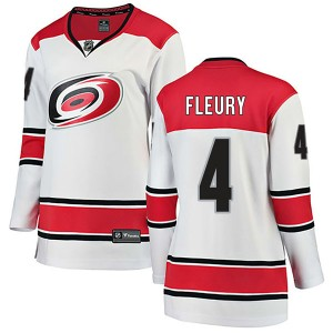 Haydn Fleury Carolina Hurricanes Women's Fanatics Branded White Breakaway Away Jersey