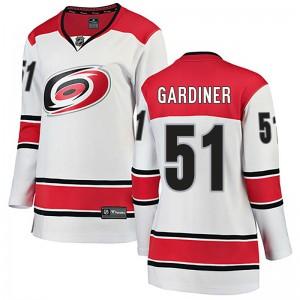 Jake Gardiner Carolina Hurricanes Women's Fanatics Branded White Breakaway Away Jersey