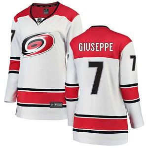 Phil Di Giuseppe Carolina Hurricanes Women's Fanatics Branded White Breakaway Away Jersey