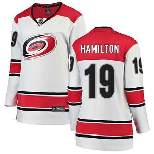 Dougie Hamilton Carolina Hurricanes Women's Fanatics Branded White Breakaway Away Jersey