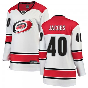 Josh Jacobs Carolina Hurricanes Women's Fanatics Branded White Breakaway Away Jersey