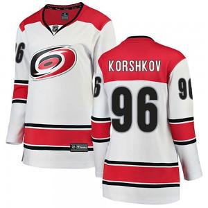 Egor Korshkov Carolina Hurricanes Women's Fanatics Branded White Breakaway Away Jersey