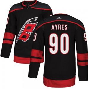 David Ayres Carolina Hurricanes Youth Adidas Authentic Black Alternate Jersey