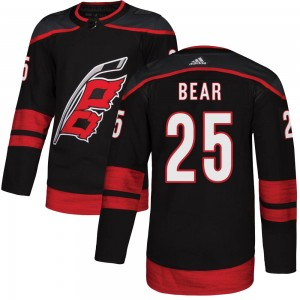 Ethan Bear Carolina Hurricanes Youth Adidas Authentic Black Alternate Jersey