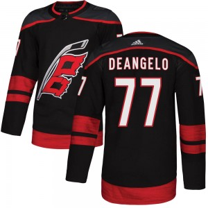 Tony DeAngelo Carolina Hurricanes Youth Adidas Authentic Black Alternate Jersey