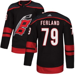 Micheal Ferland Carolina Hurricanes Youth Adidas Authentic Black Alternate Jersey