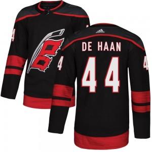 Calvin de Haan Carolina Hurricanes Youth Adidas Authentic Black Alternate Jersey