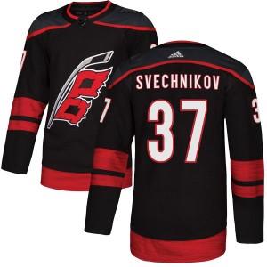 Andrei Svechnikov Carolina Hurricanes Youth Adidas Authentic Black Alternate Jersey