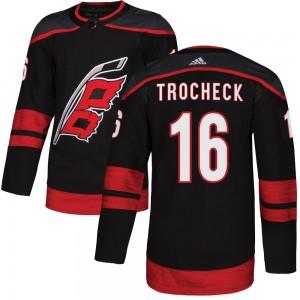Vincent Trocheck Carolina Hurricanes Youth Adidas Authentic Black ized Alternate Jersey