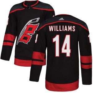 Justin Williams Carolina Hurricanes Youth Adidas Authentic Black Alternate Jersey