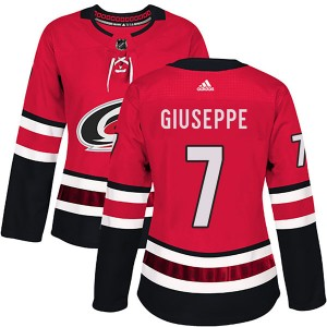 Phil Di Giuseppe Carolina Hurricanes Women's Adidas Authentic Red Home Jersey