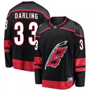 Scott Darling Carolina Hurricanes Men's Fanatics Branded Black Breakaway Alternate Jersey