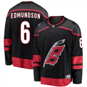 Joel Edmundson Carolina Hurricanes Men's Fanatics Branded Black Breakaway Alternate Jersey