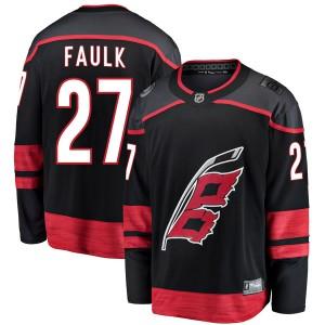 Justin Faulk Carolina Hurricanes Men's Fanatics Branded Black Breakaway Alternate Jersey