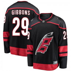 Brian Gibbons Carolina Hurricanes Men's Fanatics Branded Black Breakaway Alternate Jersey