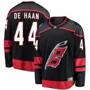 Calvin de Haan Carolina Hurricanes Men's Fanatics Branded Black Breakaway Alternate Jersey