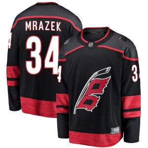 Petr Mrazek Carolina Hurricanes Men's Fanatics Branded Black Breakaway Alternate Jersey