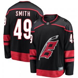 C.J. Smith Carolina Hurricanes Men's Fanatics Branded Black Breakaway Alternate Jersey