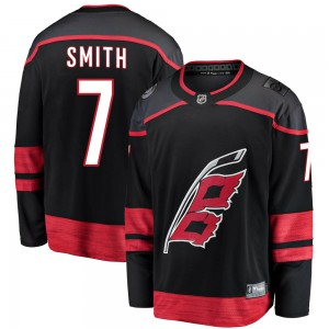 Brendan Smith Carolina Hurricanes Men's Fanatics Branded Black Breakaway Alternate Jersey