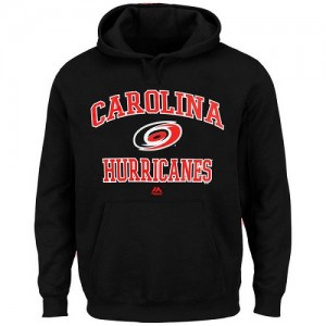 Carolina Hurricanes Men's Majestic Black Heart & Soul Hoodie