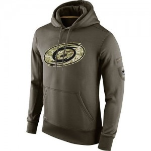 Carolina Hurricanes Men's Nike Olive Salute To Service KO Performance Hoodie