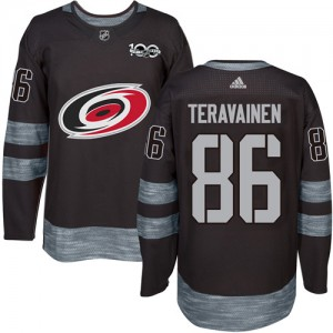 Teuvo Teravainen Carolina Hurricanes Men's Adidas Authentic Black 1917-2017 100th Anniversary Jersey