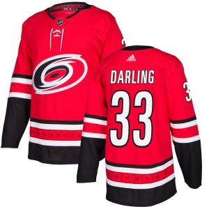 Scott Darling Carolina Hurricanes Men's Adidas Authentic Red Jersey