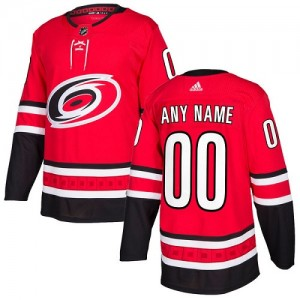 Youth Adidas Carolina Hurricanes Customized Authentic Red Home Jersey