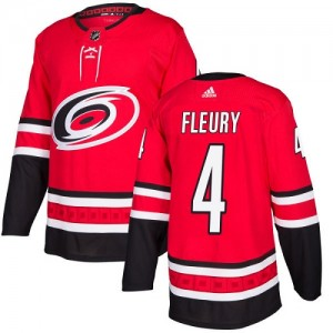 Haydn Fleury Carolina Hurricanes Youth Adidas Authentic Red Home Jersey