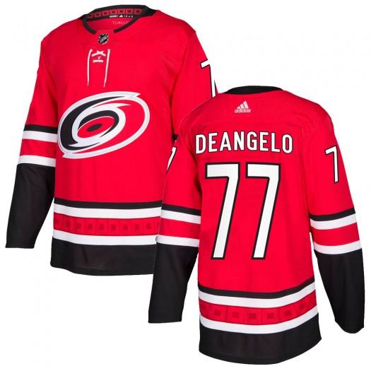 Tony DeAngelo Carolina Hurricanes Men's Adidas Authentic Red Home Jersey
