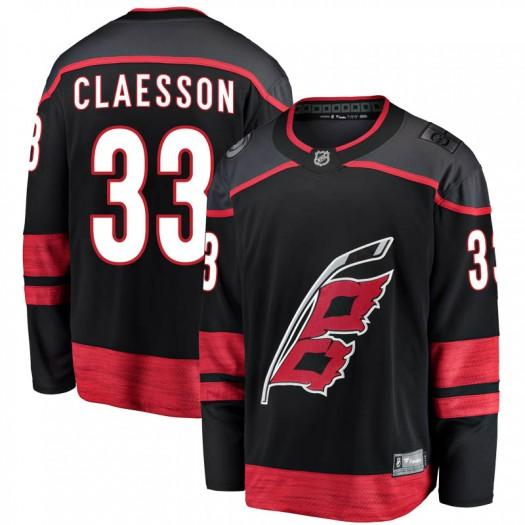 Fredrik Claesson Carolina Hurricanes Youth Fanatics Branded Black Breakaway Alternate Jersey