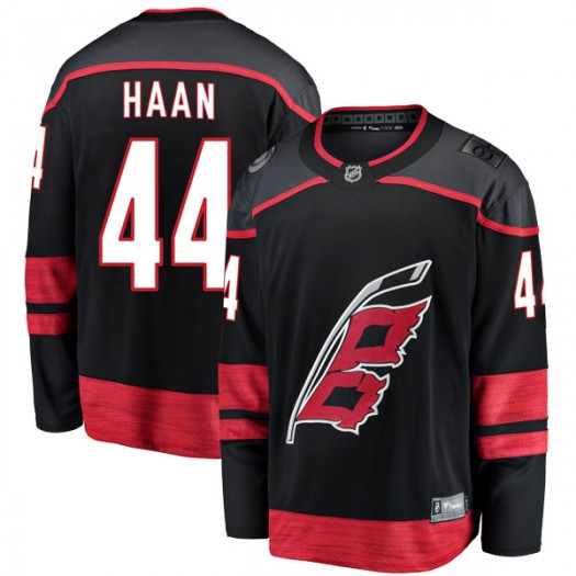 Calvin de Haan Carolina Hurricanes Youth Fanatics Branded Black Breakaway Alternate Jersey