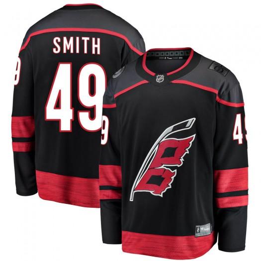 C.J. Smith Carolina Hurricanes Youth Fanatics Branded Black Breakaway Alternate Jersey