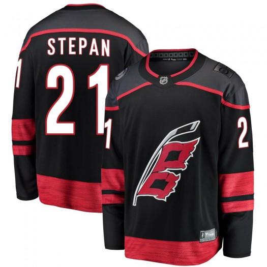 Derek Stepan Carolina Hurricanes Youth Fanatics Branded Black Breakaway Alternate Jersey