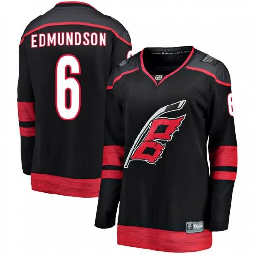 Joel Edmundson Carolina Hurricanes Women's Fanatics Branded Black Breakaway Alternate Jersey