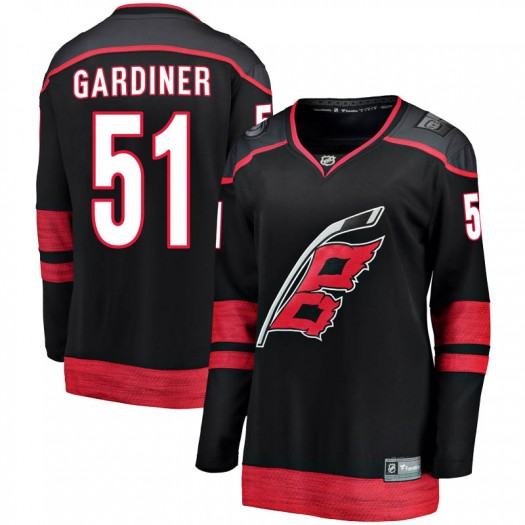 Jake Gardiner Carolina Hurricanes Women's Fanatics Branded Black Breakaway Alternate Jersey