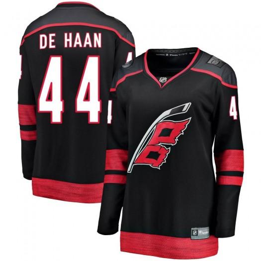 Calvin de Haan Carolina Hurricanes Women's Fanatics Branded Black Breakaway Alternate Jersey