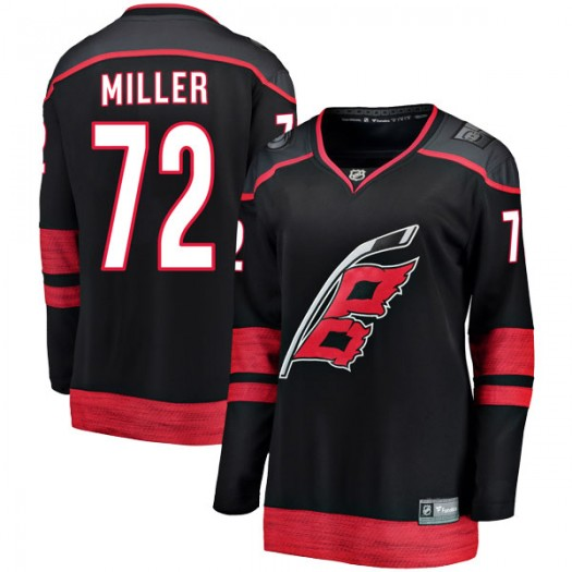 Andrew Miller Carolina Hurricanes Women's Fanatics Branded Black Breakaway Alternate Jersey