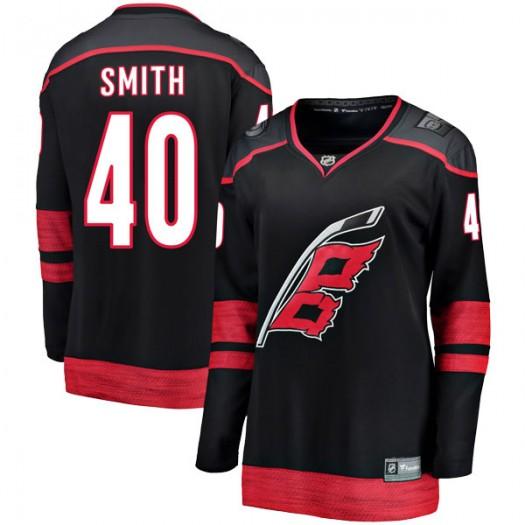 Jeremy Smith Carolina Hurricanes Women's Fanatics Branded Black Breakaway Alternate Jersey
