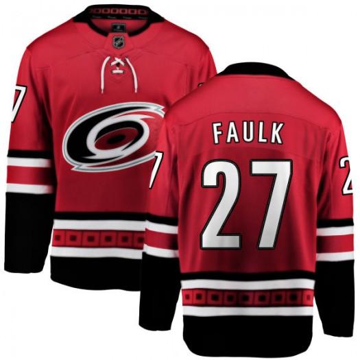 Justin Faulk Carolina Hurricanes Youth Fanatics Branded Red Home Breakaway Jersey