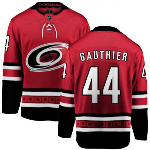 Julien Gauthier Carolina Hurricanes Youth Fanatics Branded Red Home Breakaway Jersey