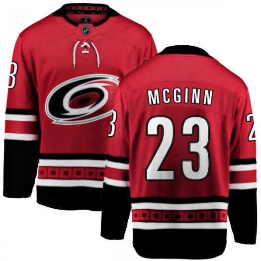 Brock Mcginn Carolina Hurricanes Youth Fanatics Branded Red Brock McGinn Home Breakaway Jersey