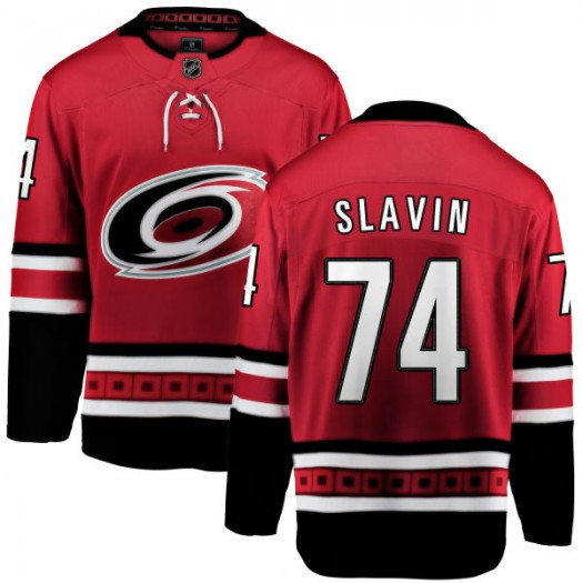 Jaccob Slavin Carolina Hurricanes Men's Fanatics Branded Red Home Breakaway Jersey
